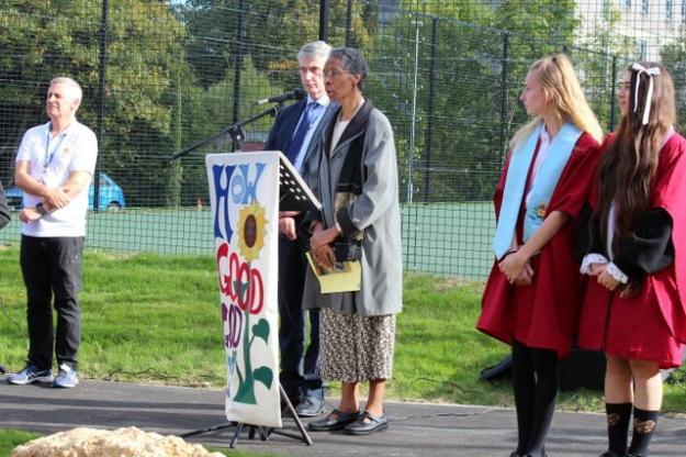 Sister Teresita Declares Our Peace Garden Open