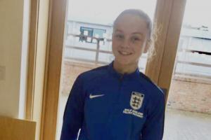 Footballer Mia At England FA Training