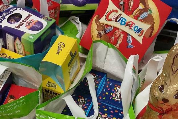 St. Julie's Donates 348 Easter Eggs!