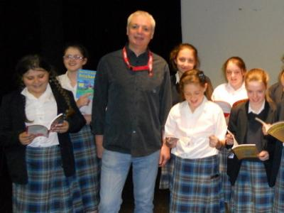 Successful children's author and poet visits St. Julie's
