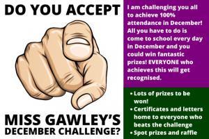 December Attendance Challenge