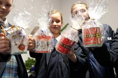 Enterprising Christmas Mugs