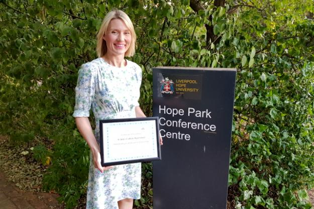 'Outstanding Contribution' Award from Hope University