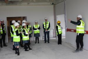 Students Tour New Building