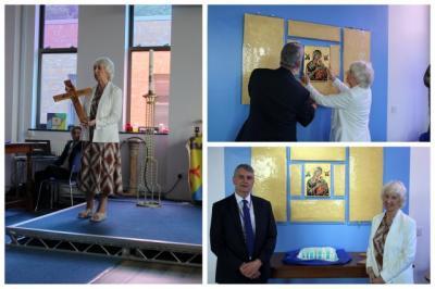 Sister Margaret Unveils Artwork
