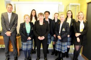Maria Eagle MP Visits St. Julie's