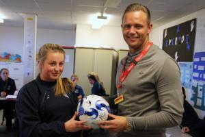 Swansea City Legend Lee Trundle Visits BTEC Students