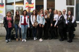 Spanish Exchange Students Visit St. Julie's!