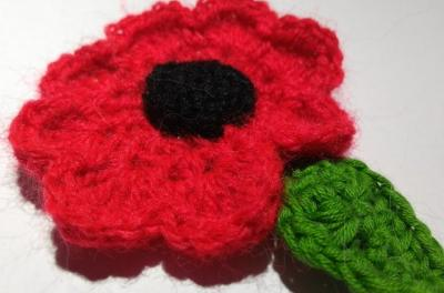 Knitted Poppies for Remembrance Day