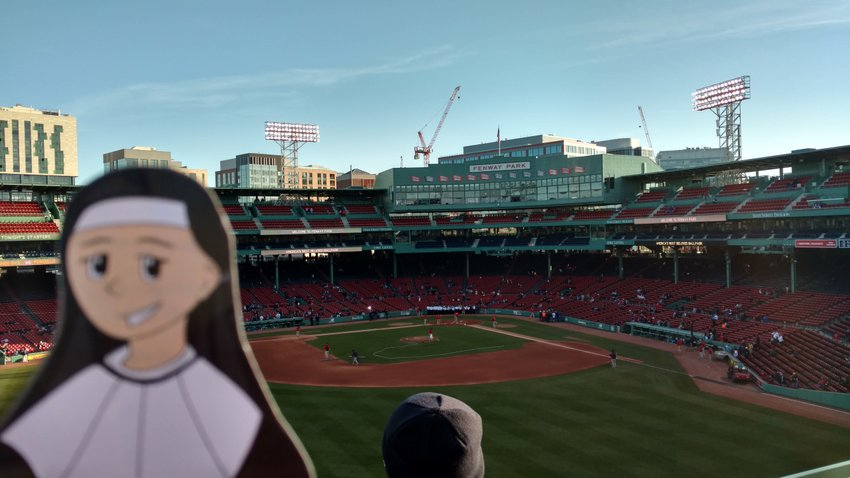 Taking in the home of the Red Sox.