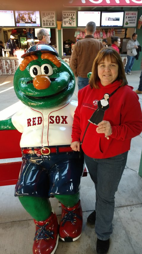 Hanging with Wally at Fenway!