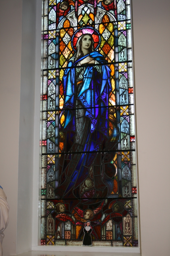 Standing in the Mary Window of the Sheffield Prayer Room.
