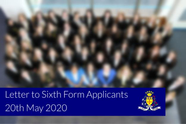 Letter to Sixth Form Applicants