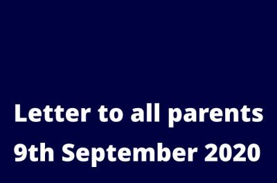 Letter to all Parents and Carers