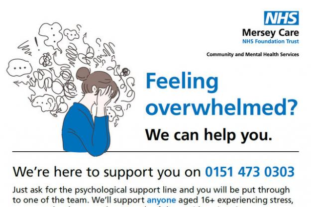 Merseycare Launch Support Line for 16+