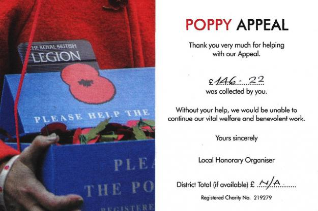 Poppy Appeal Total Counted