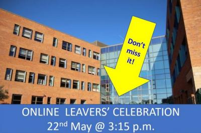Online Leavers' Celebration: All Welcome!