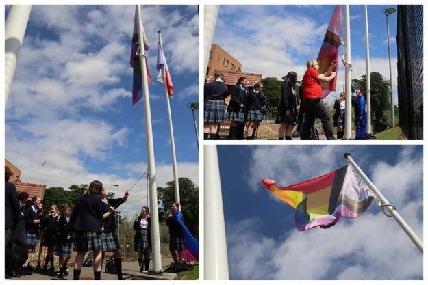 Progress Pride Flag Flies for Pride Month