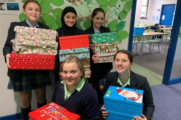 St Julie's Geographers support Operation Christmas Child