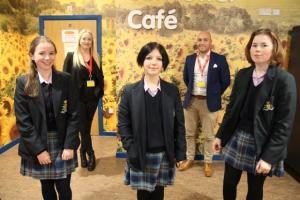 St. Julie's Prize Winners Take Working Lunch!