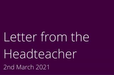 Letter from the Headteacher